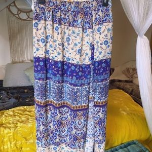 Maxi skirt shorts underneath gauze
